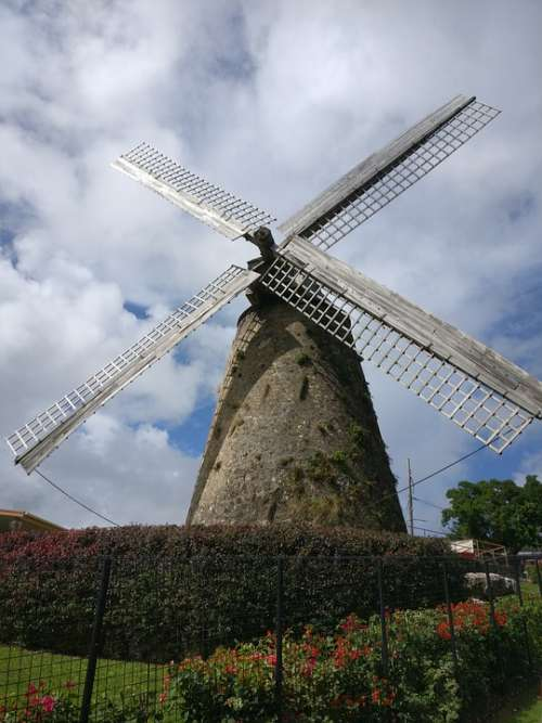 Windmill Mill Wind Old Historically Architecture