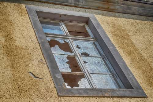 Window Old Building Destroyed Glass Architecture