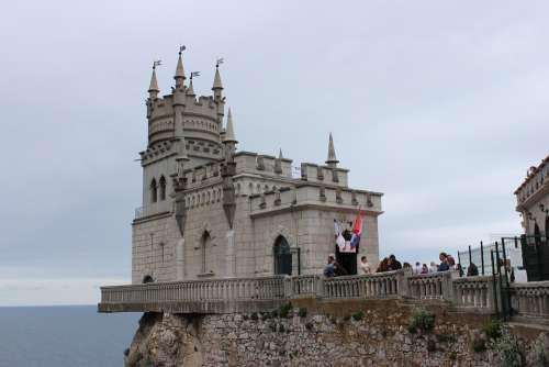 Yalta Crimea Russia Sea Castle Rocks