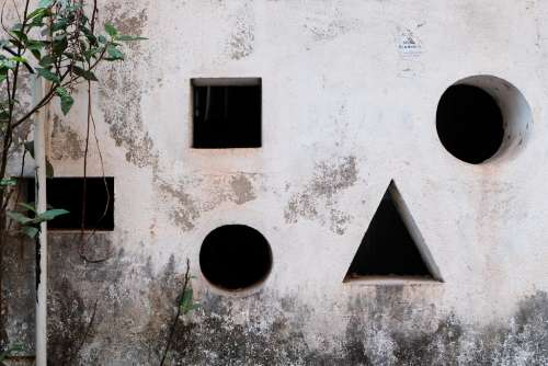 Geometric Figures Holes in Wall