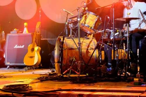 Drummer Plays Drums Kit