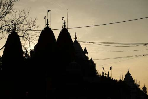 Silhouette of Shri Digambar Jain Lal Mandir