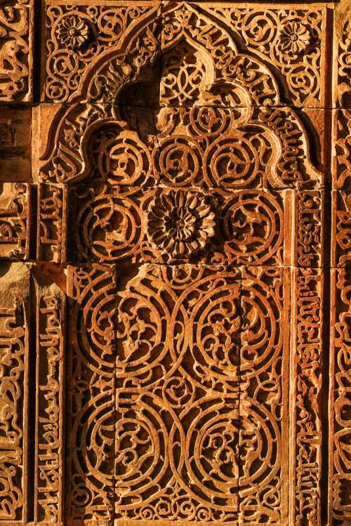 Ancient Door at Red Fort