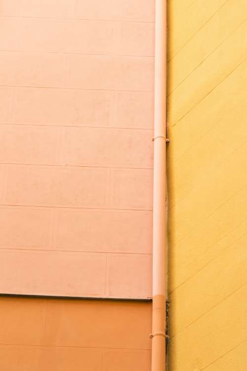 Bright Colored Walls Brighten Up A Street Photo