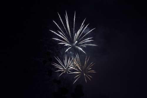 Burst Of Fireworks At Night Photo
