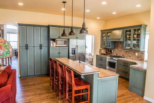 Country Styled Modern Kitchen Photo