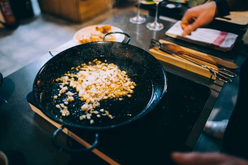 Hot Plate Cooking Photo