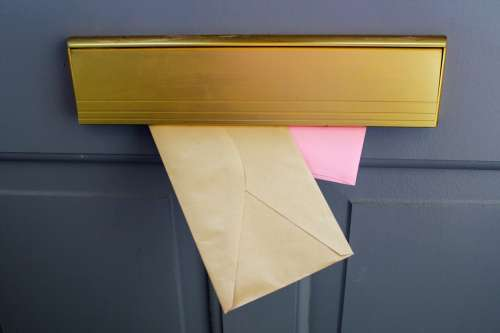 Mail In A Letterbox Photo