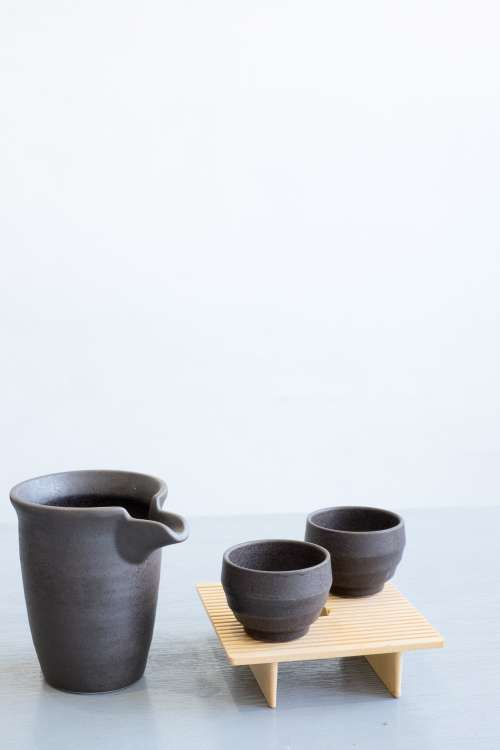Minimalist Pitcher And Cup Set Photo
