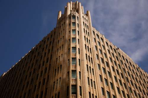 Multi-Storey Futuristic Building Photo