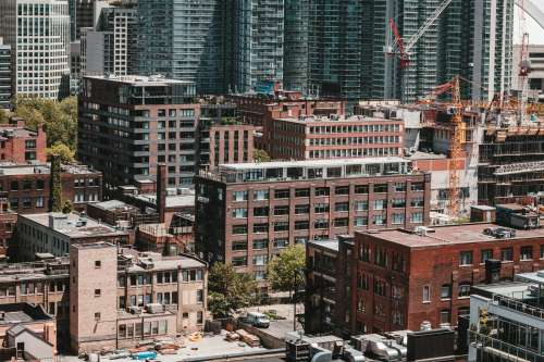 Old And New City Scape Photo