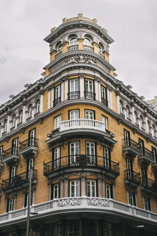Ornate Design Of A Spanish Building Photo