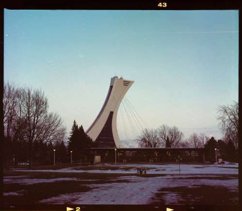 Vintage Photo Of The Montreal Tower With Black Border Photo