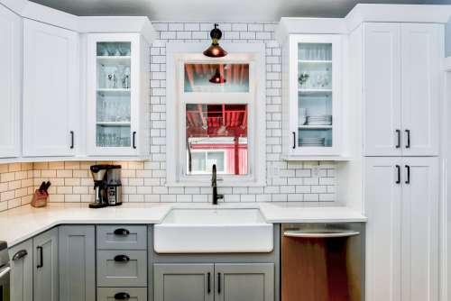 White Kitchen With Window Photo