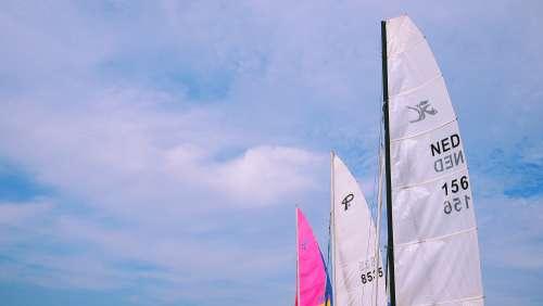 catamarans sky blue sky outdoor netherlands