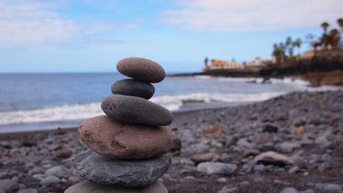 stones beach coast luck tenerife