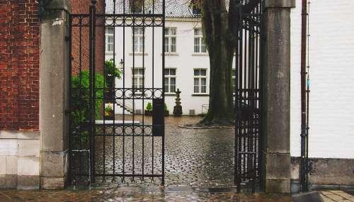 dutch rainy gate urban Entrance