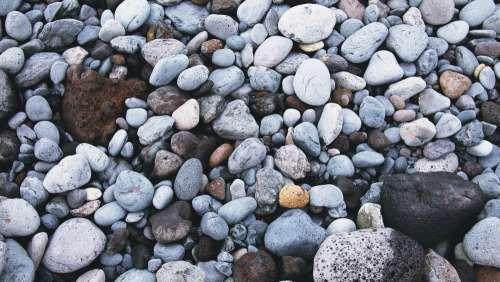 stones coast beach cold texture