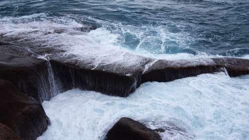 tenerife spain rocks volcanic island waves