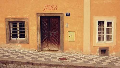 architecture architectural facade prague entrance