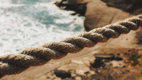 rope ocean beach tenerife spain