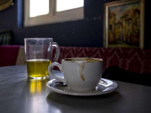 coffee cappuccino meeting tea cups