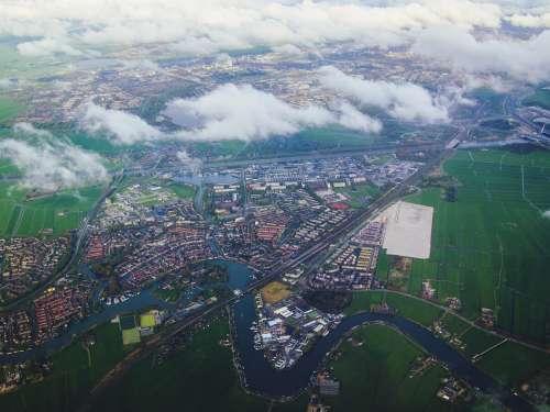 netherlands dutch nederland city from above