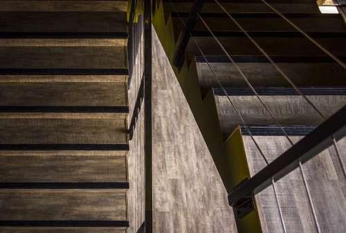 interior indoor public space wooden floor stairs