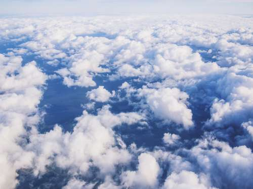 clouds sky from above environment air