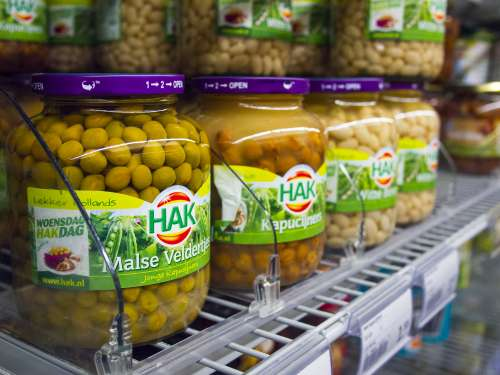 hak food supermarket peas kapucijn