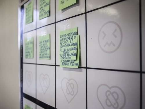 Rockstart Launchtrack Chisinau Progress board post-it startups