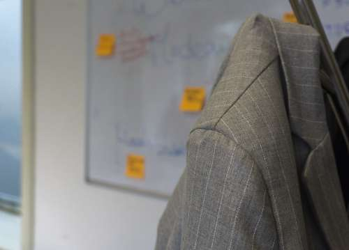 jacket startups accelerator stripes grey