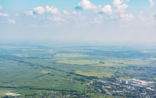 aerial flight flying view landscape