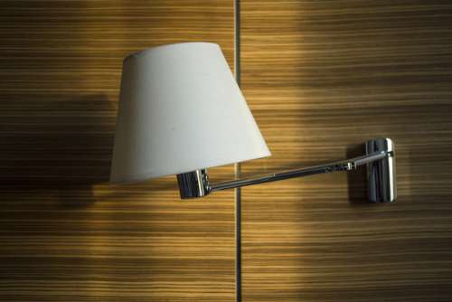 hotel room lamp wooden wood