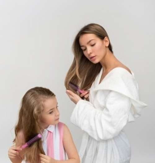 Those Sweet Moments Of Mom And Daughter Getting Ready