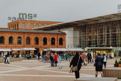 Manufaktura - an arts centre, shopping mall, and leisure complex in Łódź, Poland