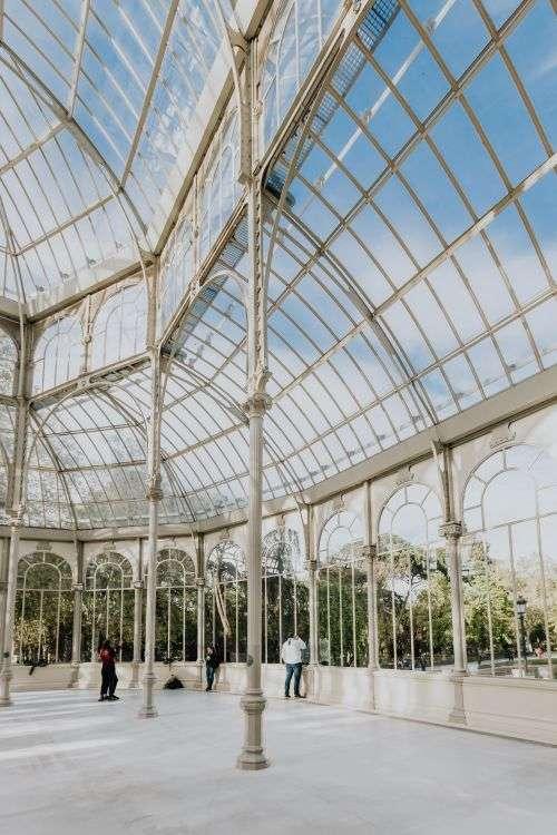 Crystal Palace (Palacio de cristal) in Retiro Park, Madrid, Spain