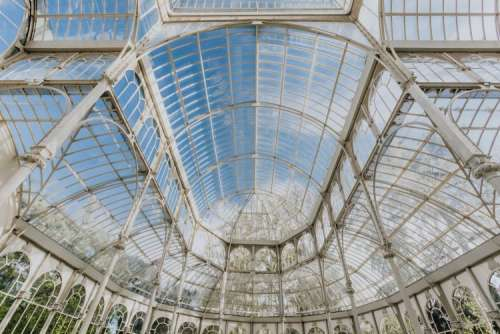 Crystal Palace (Palacio de cristal) in Retiro Park, Madrid, Spain