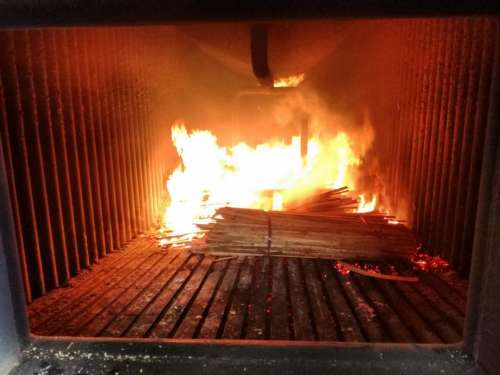 Steam Boiler Furnace fire flames heat