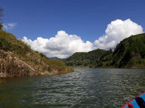 Nepal lake mountains Asia