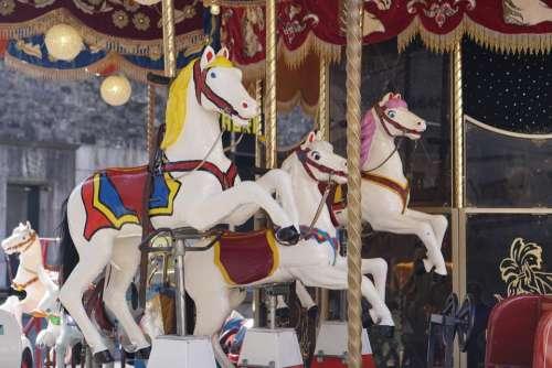 carousel merry go round ride amusement horses