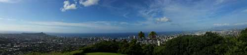 Honolulu Hawaii Cityscape City Panoramic