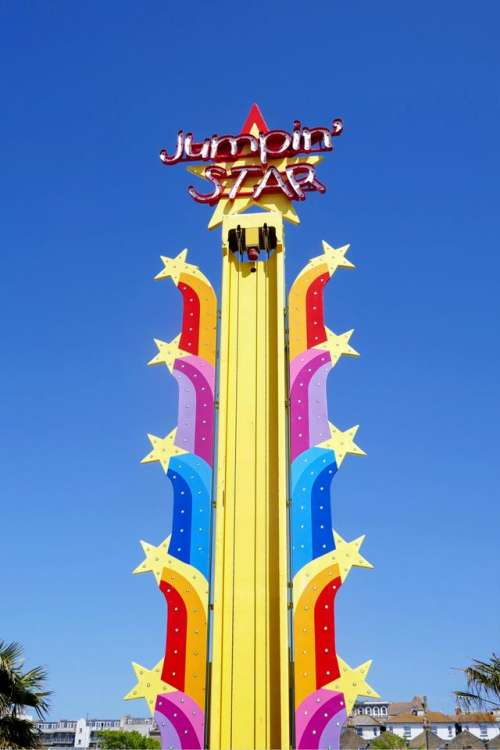 color colours primary jumping star funfair