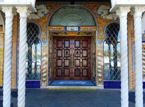 door entryway restaurant elaborate decorative