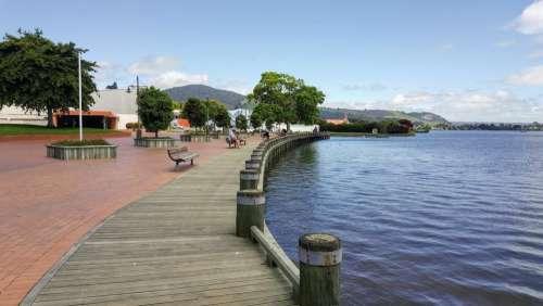Rotorua board walk lake New Zealand walkway