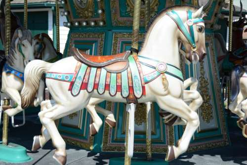 carousel merry go round ride amusement carnival