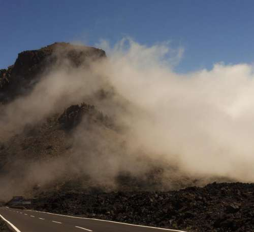 Teide National Park  Tenerife Canary Islands Spain cloud