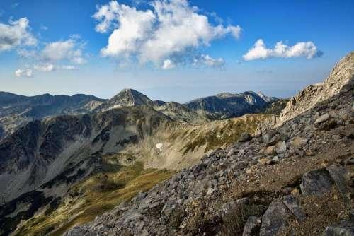 landscape mountain nature peak high