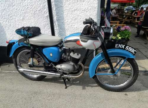 BSA motorbike vintage antique