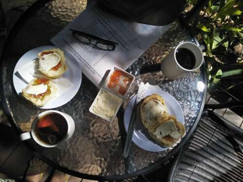 devonshire tea food eating coffee relaxing